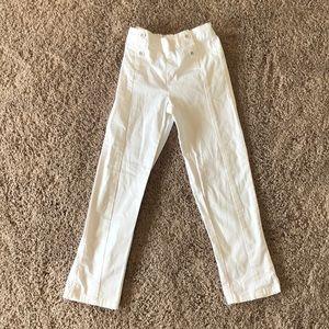 Janie and Jack white pants